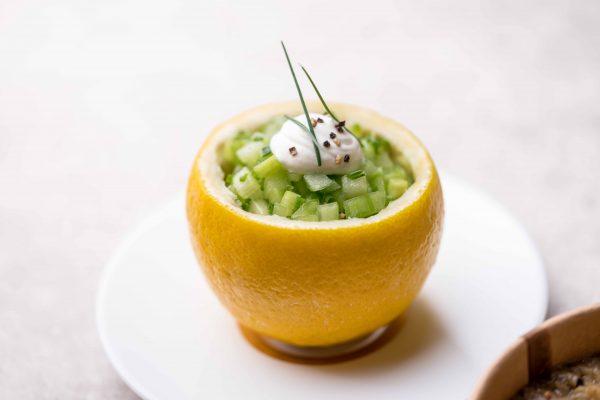 Aperitiefbox (citroen komkommersalsa)